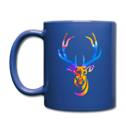 Rainbow Deer Full Color Coffee Mug - royal blue