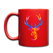 Rainbow Deer Full Color Coffee Mug - red