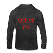 Let it Go Unisex Tri-Blend Hoodie Shirt - heather black