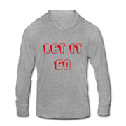 Let it Go Unisex Tri-Blend Hoodie Shirt - heather gray
