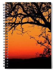 Tree Silhouette - Spiral Notebook