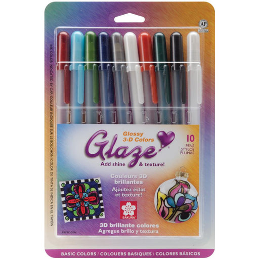 Gelly Roll Glaze Bold Point Pens 10/Pkg