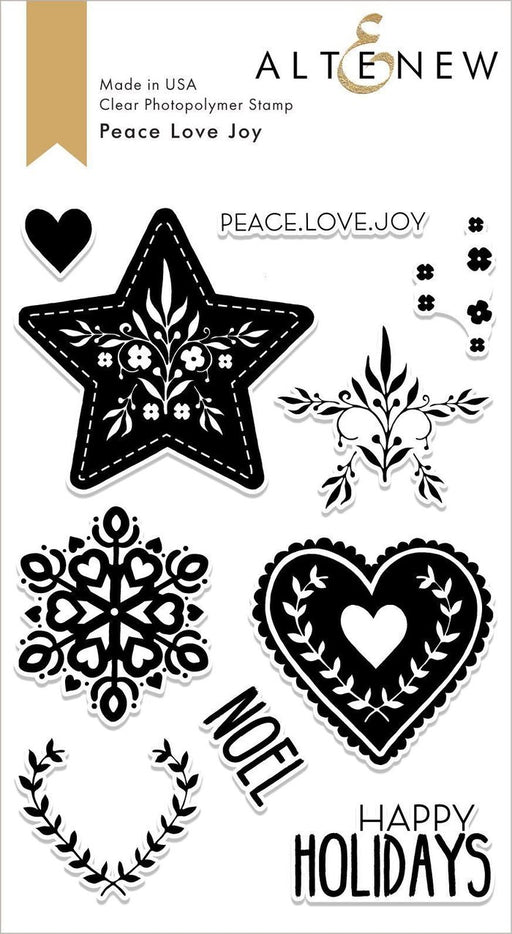Altenew Peace Love Joy Stamp Set