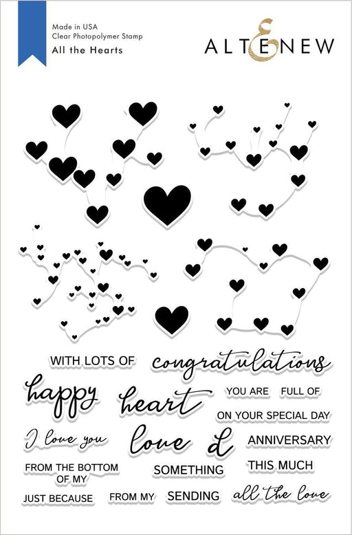 Altenew All the Hearts Stamp Set