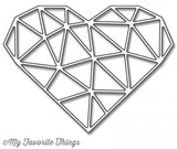 My Favorite Things Die-namics Abstract Heart MFT-1030 | Maple Treehouse