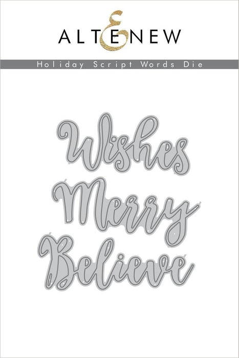 Altenew Die Holiday Script Words