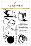 "Altenew Photopolymer Clear Stamp 6"" x 8"" Coffee With A Splash"