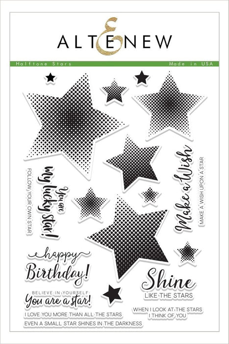 "Altenew Photopolymer Clear Stamp 6"" x 8"" Halftone Stars"
