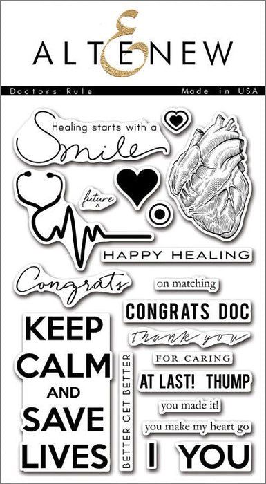 "Altenew Photopolymer Clear Stamp 4"" x 6"" Doctors Rule 