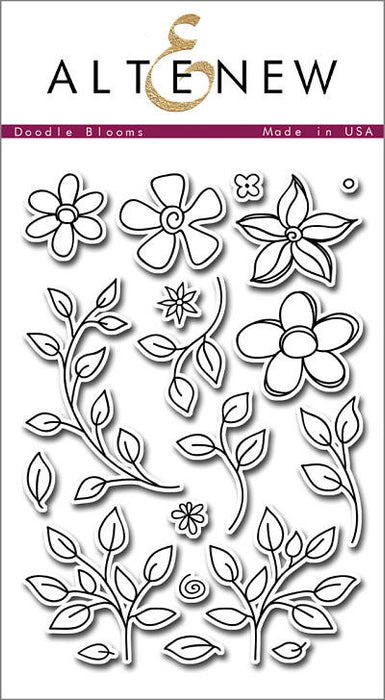 "Altenew Photopolymer Clear Stamp 4"" x 6"" Doodle Blooms 