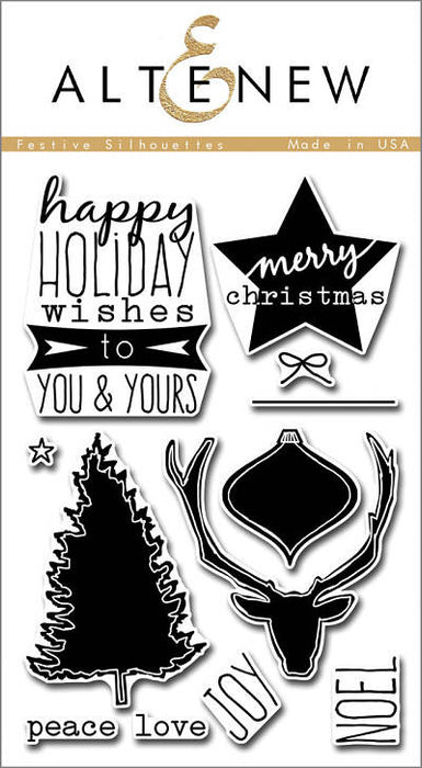 "Altenew Photopolymer Clear Stamp 4"" x 6"" Festive Silhouettes 