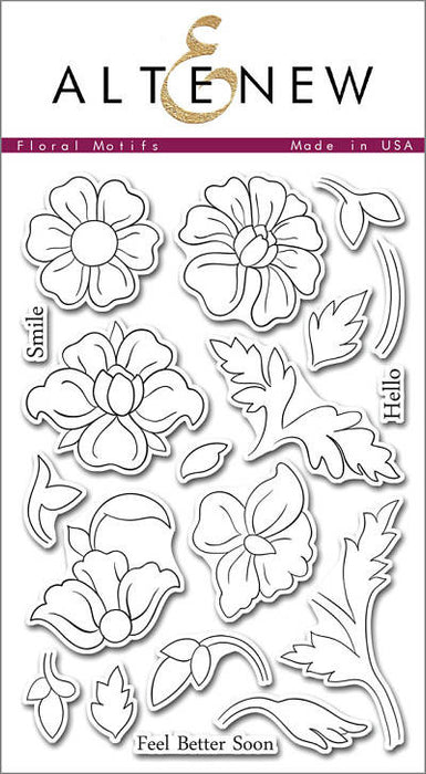 "Altenew Photopolymer Clear Stamp 4"" x 6"" Floral Motifs 