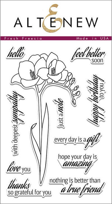 "Altenew Photopolymer Clear Stamp 4"" x 6"" Fresh Freesia 