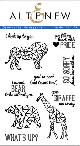 "Altenew Photopolymer Clear Stamp 4"" x 6"" Geometric Menagerie 