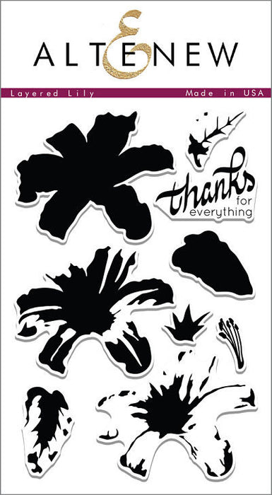 "Altenew Photopolymer Clear Stamp 4"" x 6"" Layered Lily 