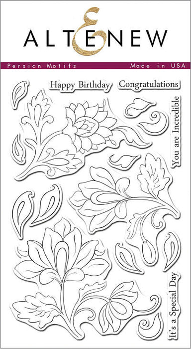 "Altenew Photopolymer Clear Stamp 4"" x 6"" Persian Motifs 