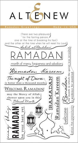 "Altenew Photopolymer Clear Stamp 4"" x 6"" Ramadan Greetings 