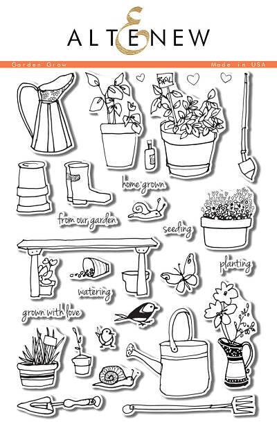 "Altenew Photopolymer Clear Stamp 6"" x 8"" Garden Grow 