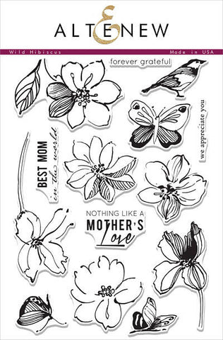 "Altenew Photopolymer Clear Stamp 6"" x 8"" Wild Hibiscus 
