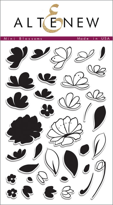 "Altenew Photopolymer Clear Stamp 4"" x 6"" Mini Blossoms 