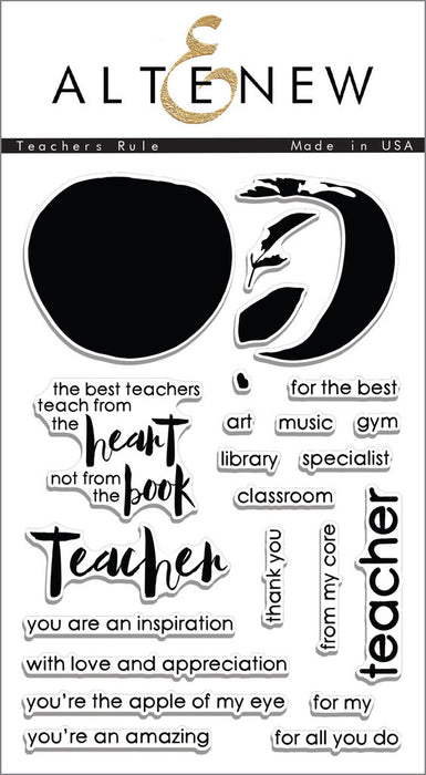 "Altenew Photopolymer Clear Stamp 4"" x 6"" Teachers Rule 