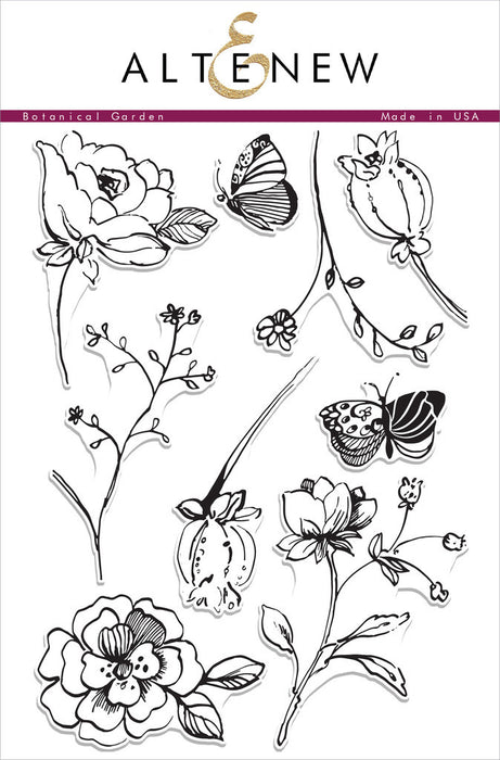 "Altenew Photopolymer Clear Stamp 6"" x 8"" Botanical Garden 