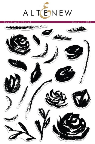 "Altenew Photopolymer Clear Stamp 6"" x 8"" Brush Art Floral 