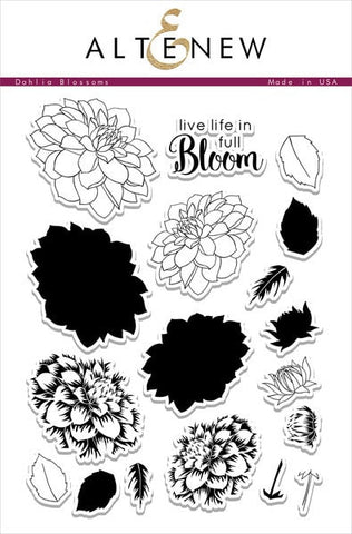 "Altenew Photopolymer Clear Stamp 6"" x 8"" Dahlia Blossoms 
