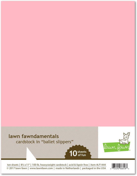 "Lawn Fawn Cardstock 8.5"" x 11"" Ballet Slippers LF1444"