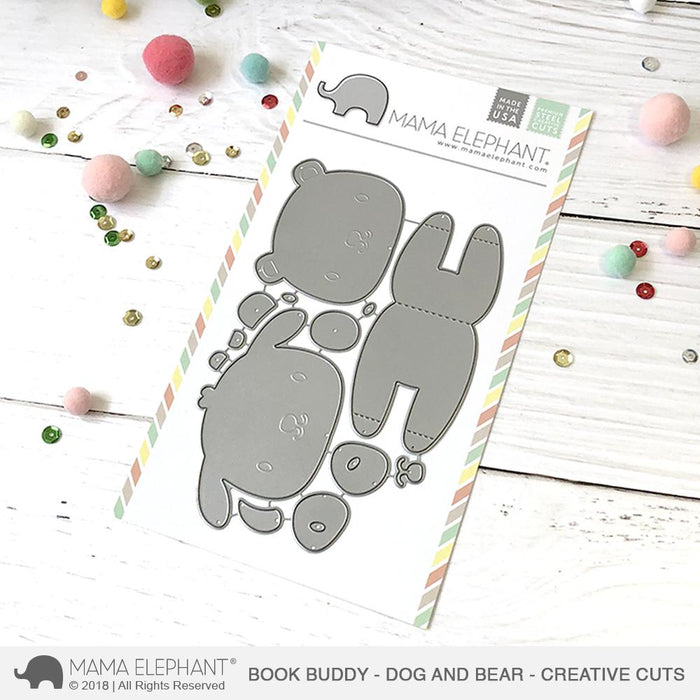 Mama Elephant Creative Cuts Book Buddy Bear And Dog