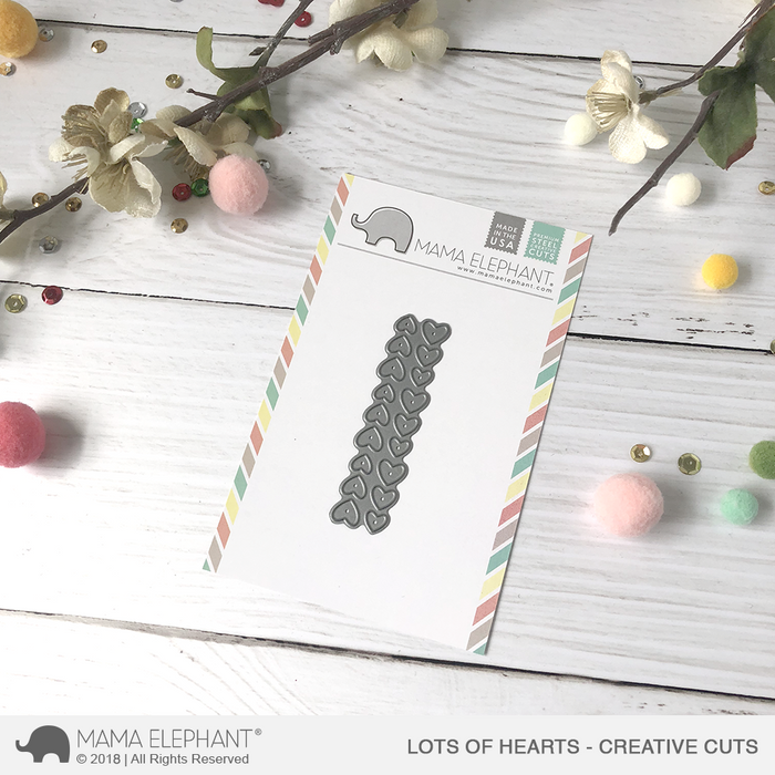 Mama Elephant Creative Cuts Lots Of Hearts