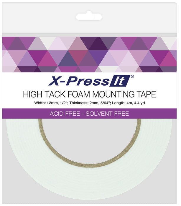 Copic X-Press It Foam Tape Acid Free High Tack 2mm x 12mm FTH12 | Maple Treehouse