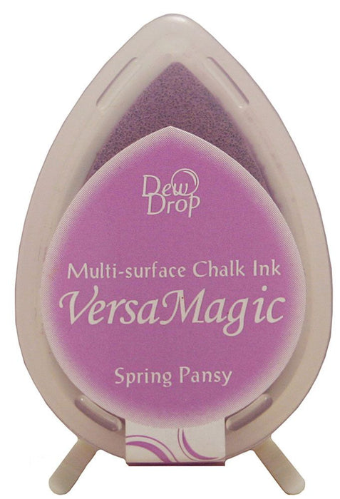 Tsukineko VersaMagic Multi-Surface Dew Drop Chalk Ink Pad Spring Pansy GD000 35