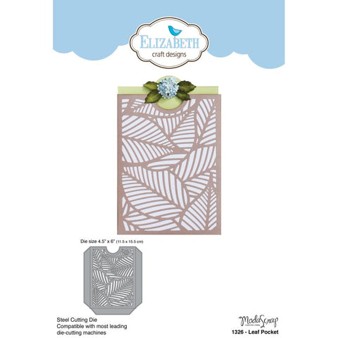 "Elizabeth Craft Metal Die Leaf Pocket, 4.5""X6"" EC1326"