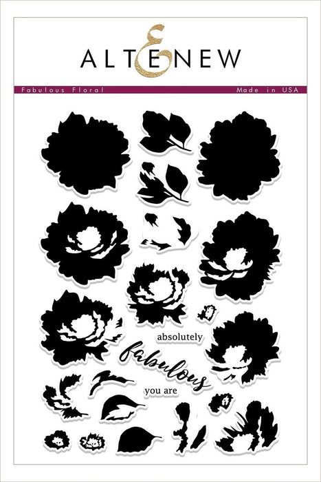 "Altenew 6"" x 8"" Clear Stamp Fabulous Floral"