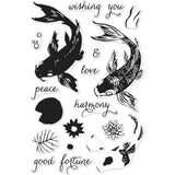 "Hero Arts Clear Stamps 4""X6"" Color Layering Koi HA-CM127"