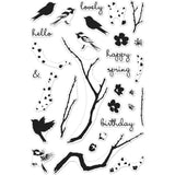 "Hero Arts Clear Stamps 4""X6"" Color Layering Birds & Blossoms HA-CM129"