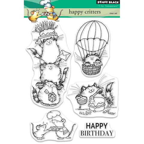 Penny Black Clear Stamps Happy Critters PB30479