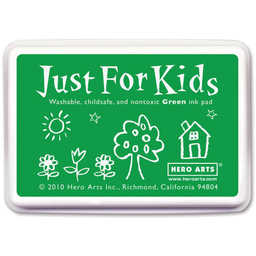 Hero Arts Just For Kids Inkpad Green JFKINK CS102 | Maple Treehouse