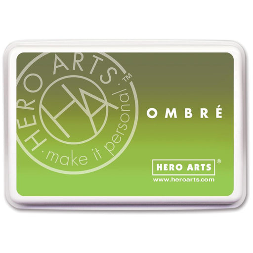 Hero Arts Ombre Ink Pad Lime To Forever Green OMBRE AF320 | Maple Treehouse