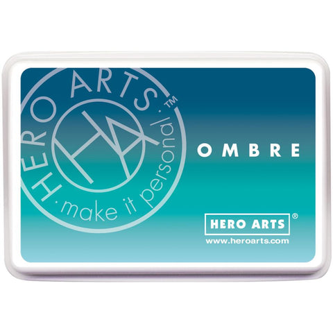 Hero Arts Ombre Ink Pad Pool To Navy OMBRE AF308 | Maple Treehouse