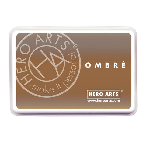 Hero Arts Ombre Ink Pad Sand To Chocolate Brown OMBRE AF311 | Maple Treehouse