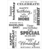 "Hero Arts Clear Stamps 4"" x 6"" Birthday Wishes HA-CL611 