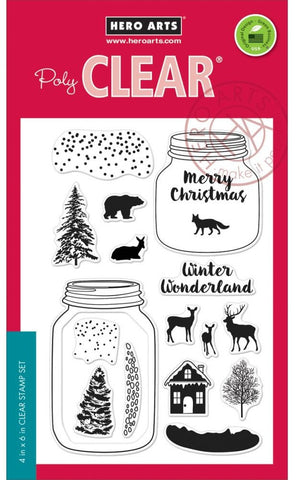 "Hero Arts Clear Stamps 4"" x 6"" Winter Scene HA-CL896 