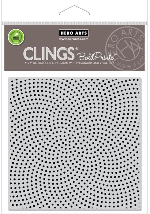 "Hero Arts Cling Stamps 4.5"" x 5.75"" Dot Moire Bold Prints HA-CG682 
