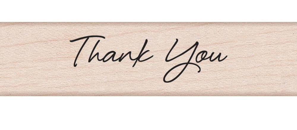 "Hero Arts Mounted Rubber Stamp .5"" x 3"" Little Greetings Thank You HA-C5589 