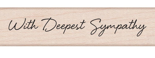 "Hero Arts Mounted Rubber Stamp .5"" x 3"" Little Greetings With Deepest Sympathy HA-C5593 