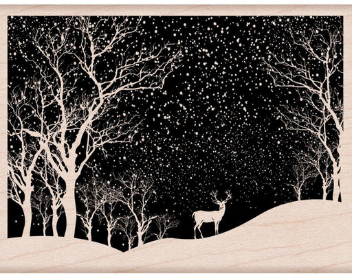 "Hero Arts Mounted Rubber Stamp 4.25"" x 3.25"" Snowy Scene HA-K6100 