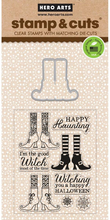 Hero Arts Stamp & Cuts Witch Feet HA-DC161 | Maple Treehouse