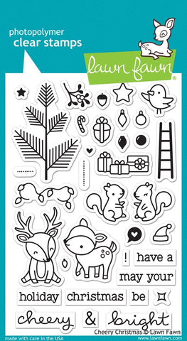 "Lawn Fawn Clear Stamp 4""x6"" Cheery Christmas LF1216 